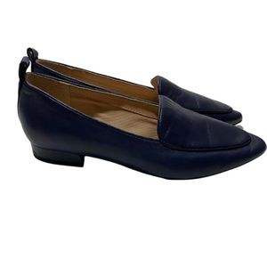 Franco Sarto Blue Leather Loafers
